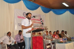 MLA Shafi Parambil delivers Presidential Address