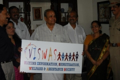 His Excellency Governor of Maharashtra, Sri.K.Sankarannarayanan releasing the logo