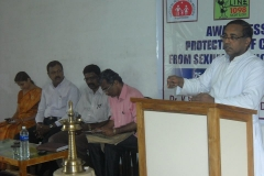 Dr.Fr,Jose Paul, Chairman, CWC and Director, Childline delivering Presidential Address