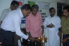 VISWAS Secretary Prem Nath lighting the lamp