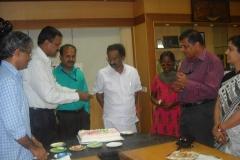 Secretary requests Sri.A.K.Balan to handover the cheque to Ms.Alphonsa