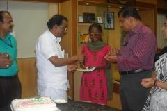 Sri.A.K.Balan, MLA hands over cheque — with B Jayarajan Fca, Adv Reena Jaijith and reena jaijith.