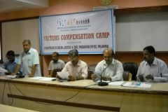 Mr.Mruthyunjayan, Dist,Social Justice Officer welcoming the gathering