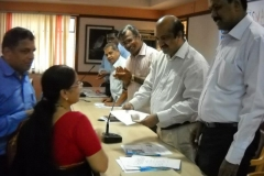 VISWAS first Life membership form from Mr.B Jayarajan Fca Devi accepted by Dist.Colecto